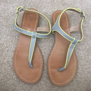 UNISA sandals grey and neon yellow